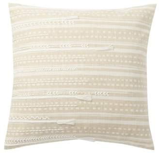"Nordstrom Rack Indigo Ikat Embroidered Pillow - 18\""x18\"""
