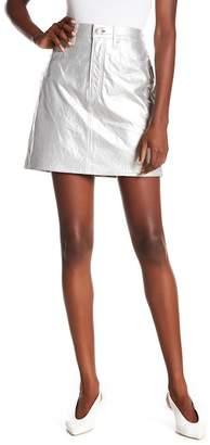 Rag & Bone Moss High Waist Leather Miniskirt