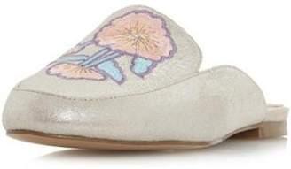Dorothy Perkins Womens *Head Over Heels By Dune Silver 'Geo' Ladies Flat Shoes