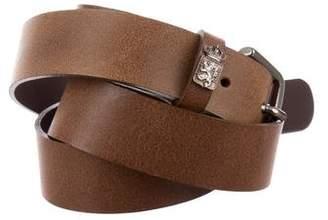 Les Copains Distressed Leather Belt