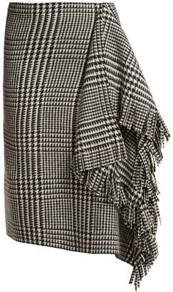 Balenciaga Houndstooth wool skirt