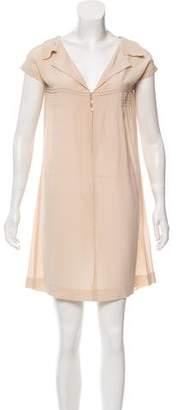 Miu Miu Short Sleeve Shift Dress