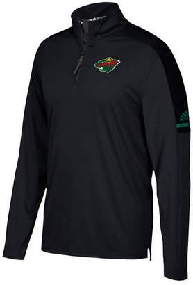 adidas Men's Minnesota Wild Authentic Pro Quarter-Zip Pullover