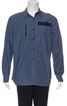 G Star Zip-Accented Denim Shirt
