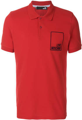 Love Moschino logo embroidered polo shirt