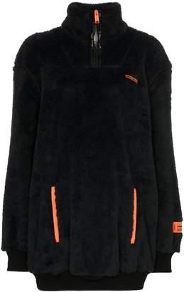 Heron Preston half-zip fleece jumper
