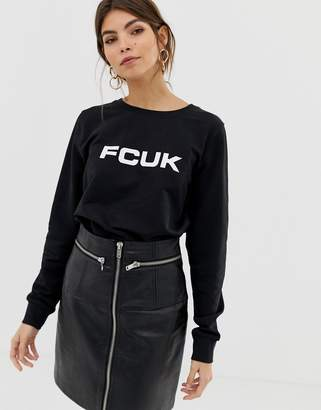 French Connection Print Sweatshirt