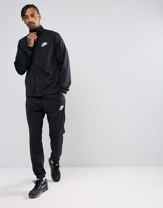 Nike Polyknit Tracksuit Set In Black 861780-010