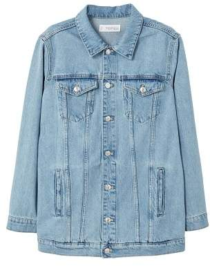 MANGO Oversize denim jacket