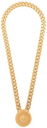 Versace Medusa medallion chain necklace