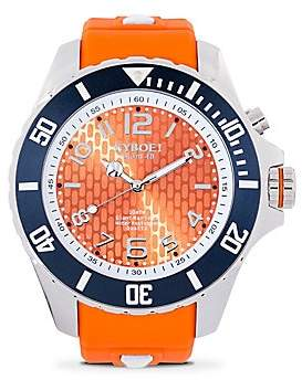 KYBOE! Stainless Steel Syracuse Orange Strap Watch