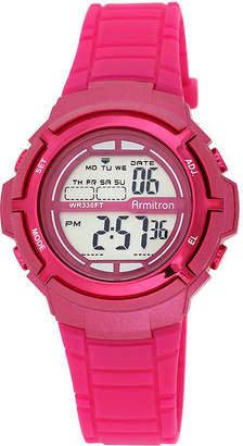 Armitron Pro-Sport Womens Pink Digital Sport Watch 45/7045MAGJ