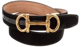 Salvatore Ferragamo Velvet Gancini Belt black Velvet Gancini Belt