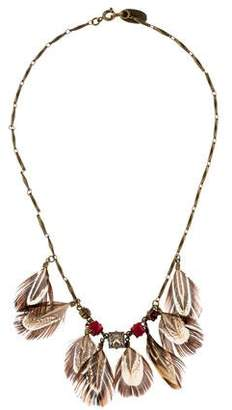 Isabel Marant All The Midnight In The World Feather & Crystal Necklace