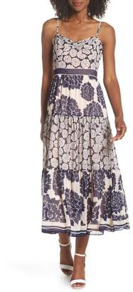 Eliza J Print Midi Dress