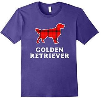 Golden Retriever Plaid Christmas T-Shirt