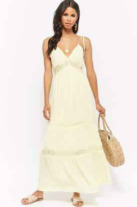 Forever 21 Eyelash Lace Trim Maxi Dress
