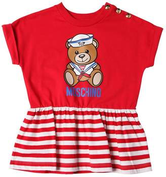 Moschino Sailor Bear Print Cotton Jersey T-Shirt