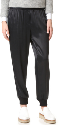 DKNY Pull On Pants with Ribbed Cuffs $258 thestylecure.com