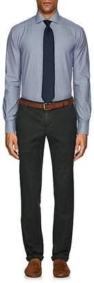 Kiton Men's Gingham Cotton Poplin Dress Shirt