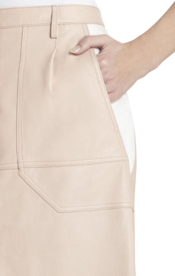 BCBGMAXAZRIA Runway Petra Leather Skirt