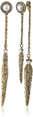 Rebecca Minkoff Feather Front Back Drop Earring