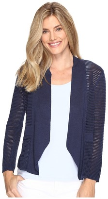 NIC+ZOE - Luxe Stitch Cardy Women's Sweater $148 thestylecure.com