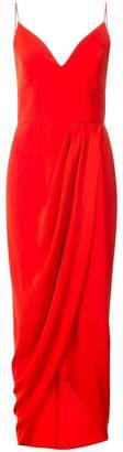 Shona Joy draped wrap-effect dress