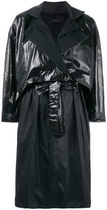 Irina Schrotter layered trench coat
