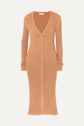 See by Chloe Ribbed-knit Cardigan - Beige