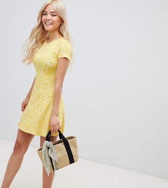 New Look Petite swing dress in yellow