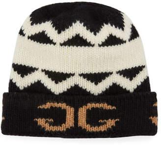 Gucci Men's Peruss Logo-Knit Beanie Hat