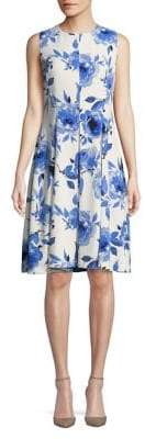 Nipon Boutique Floral Fit-and-Flare Dress
