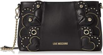 Love Moschino Borsa Vitello Smooth Nero, Women's Shoulder Bag,6x16x28 cm (B x H T)