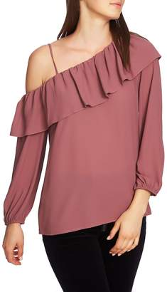 1 STATE 1.STATE One-Shoulder Ruffle Edge Blouse