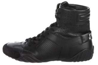 Christian Dior D-Fence Leather High-Top Sneakers Black D-Fence Leather High-Top Sneakers