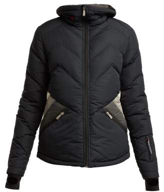 Perfect Moment Duvet Ii Quilted Ski Jacket - Womens - Black Grey