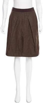 Alberta Ferretti Knee-Length Wool Skirt