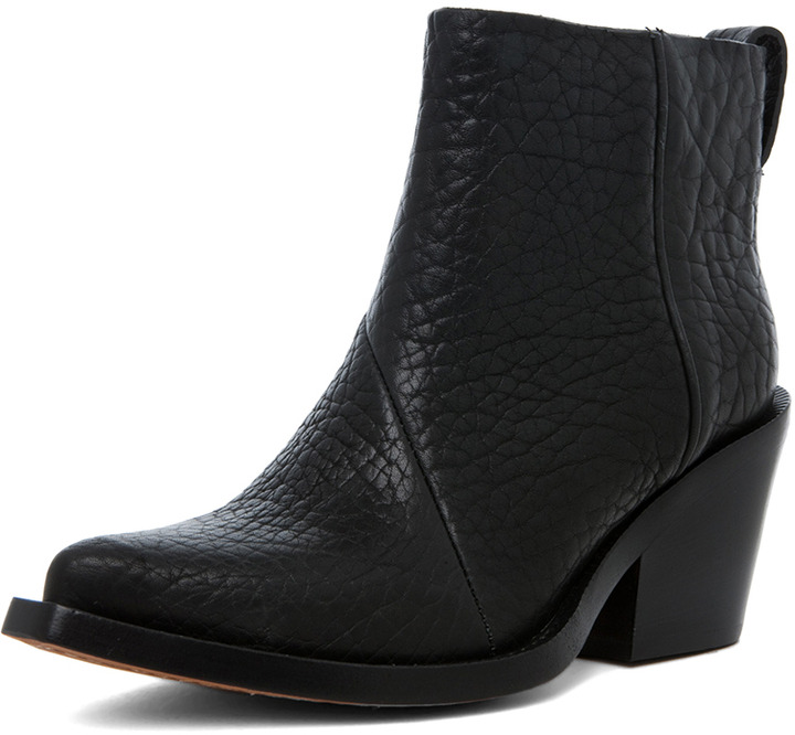Acne Studios Donna Pebbled Leather Booties