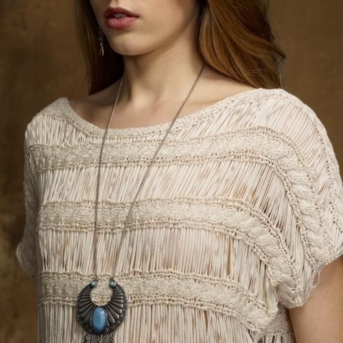 Denim & Supply Ralph Lauren Macramé Knit Pullover