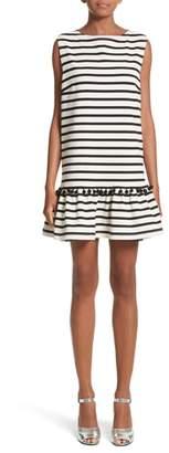 Marc Jacobs Pompom Stripe Drop Waist Dress