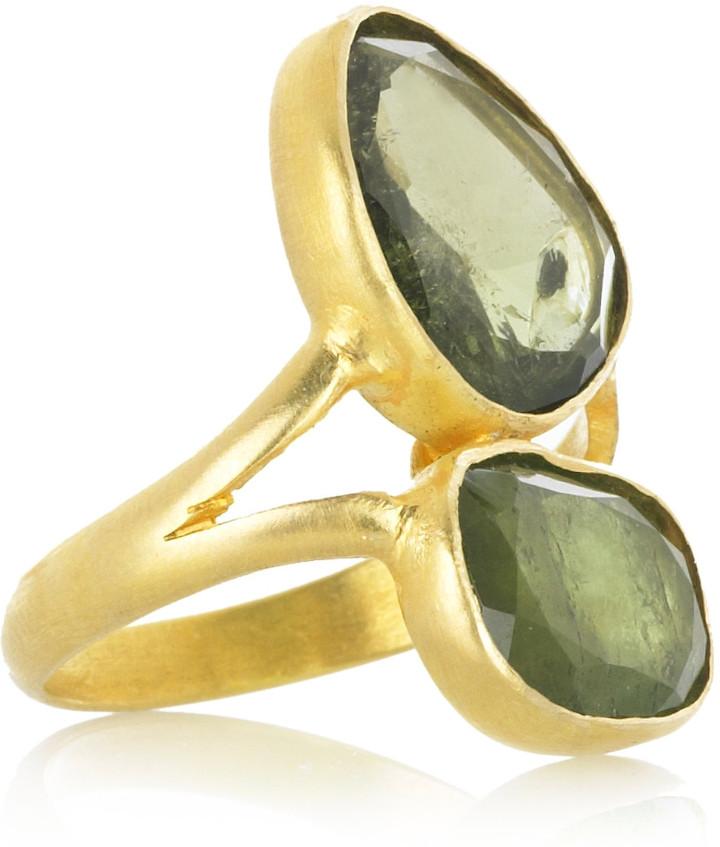 Pippa Small 18-karat gold green tourmaline ring