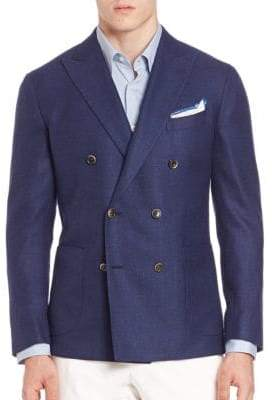 Saks Fifth Avenue COLLECTION Double-Breasted Wool & Silk Sportcoat