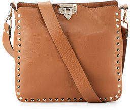 Valentino Rockstud Small Flip-Lock Hobo Bag