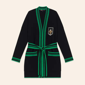Maje Mid-length cardigan with crest