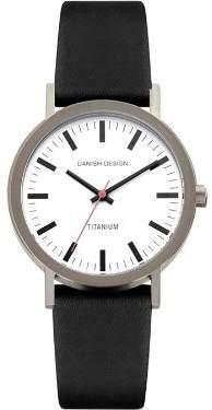 Danish Design IV14Q199 Titanium Case White Dial Leather Band Ladie's Watch