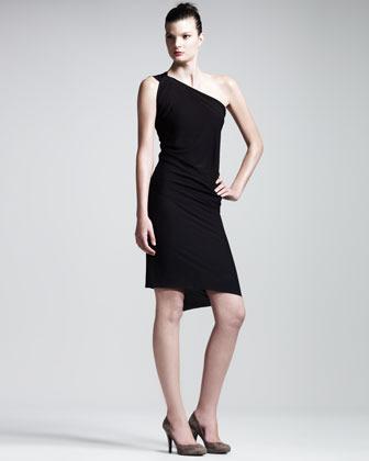 Roland Mouret Wimba One-Shoulder Jersey Dress