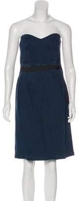 Lanvin x Acne Denim Strapless Dress