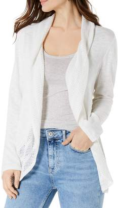 Style&Co. Style & Co. Petite Pointelle-Trim Cotton Blend Cardigan