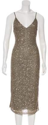 Alice + Olivia Sleeveless Midi Evening Dress Sleeveless Midi Evening Dress